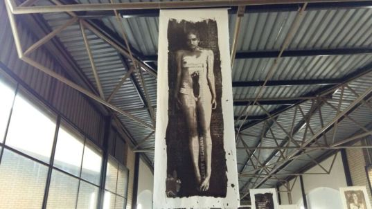Mielke used her own body to depict the tragedy that befalls many South African women. Photo by: Xiletelo Mabasa.