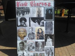 "Collage depicting the ""sheroes"" of black history. Photo by Gaby Ndongo."