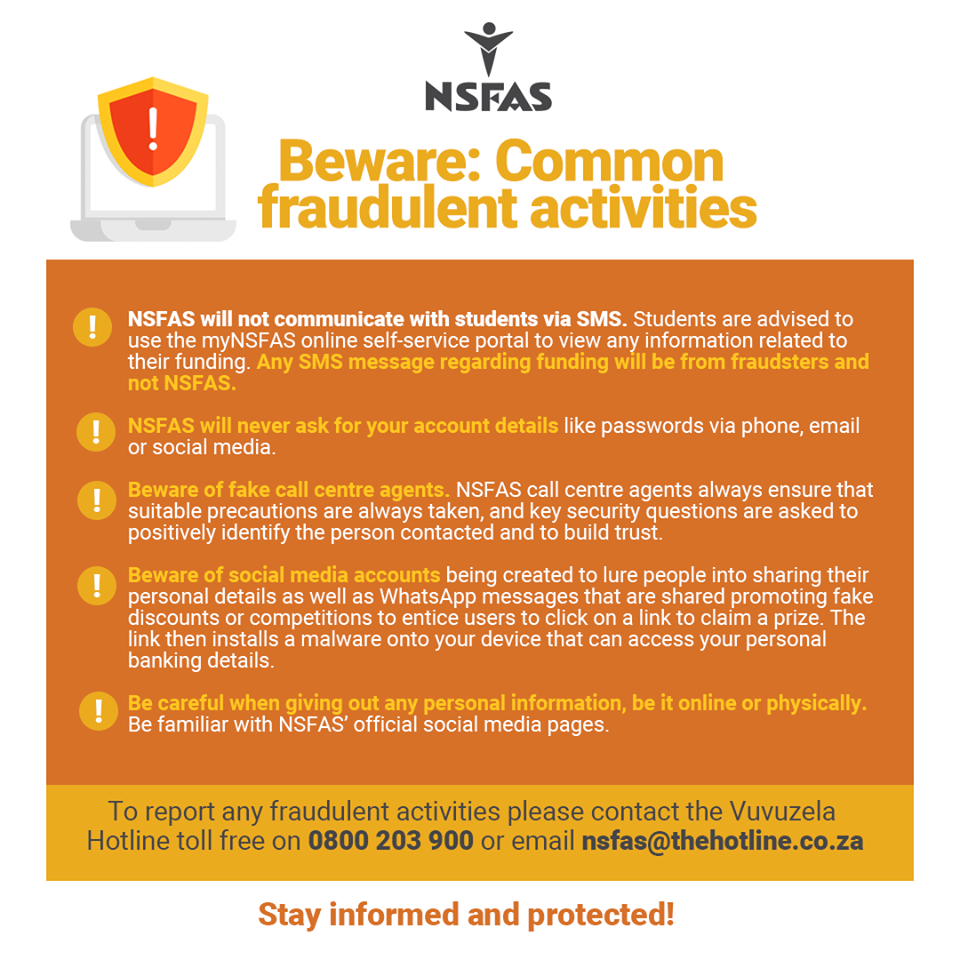 Fraudulent Activities At NSFAS Students