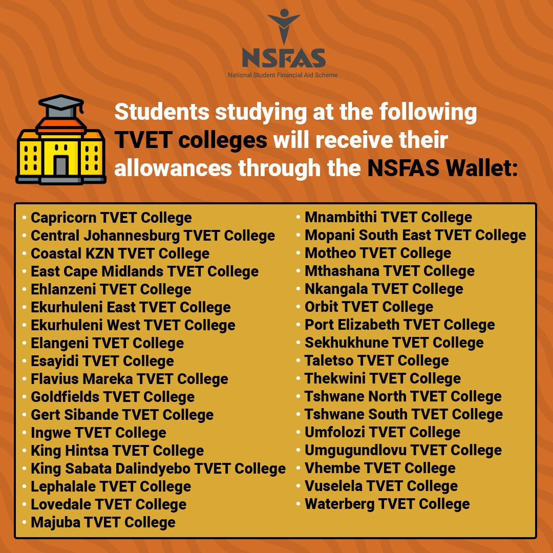 NSFAS Wallet Institutions