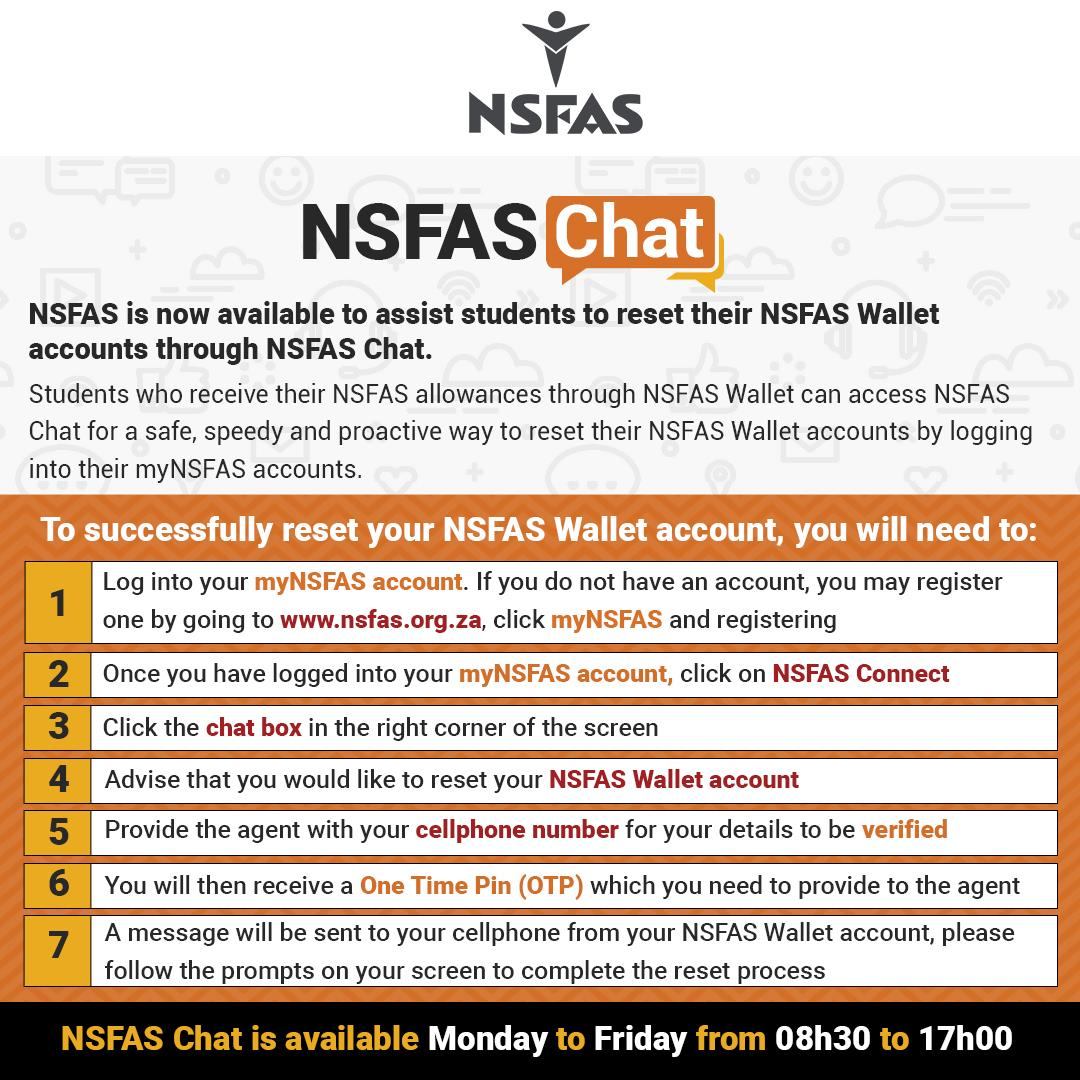 Resetting NSFAS Wallet