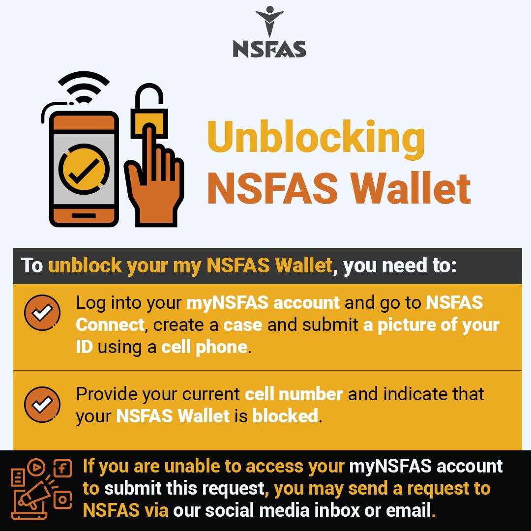 Unblocking NSFAS Wallet 1