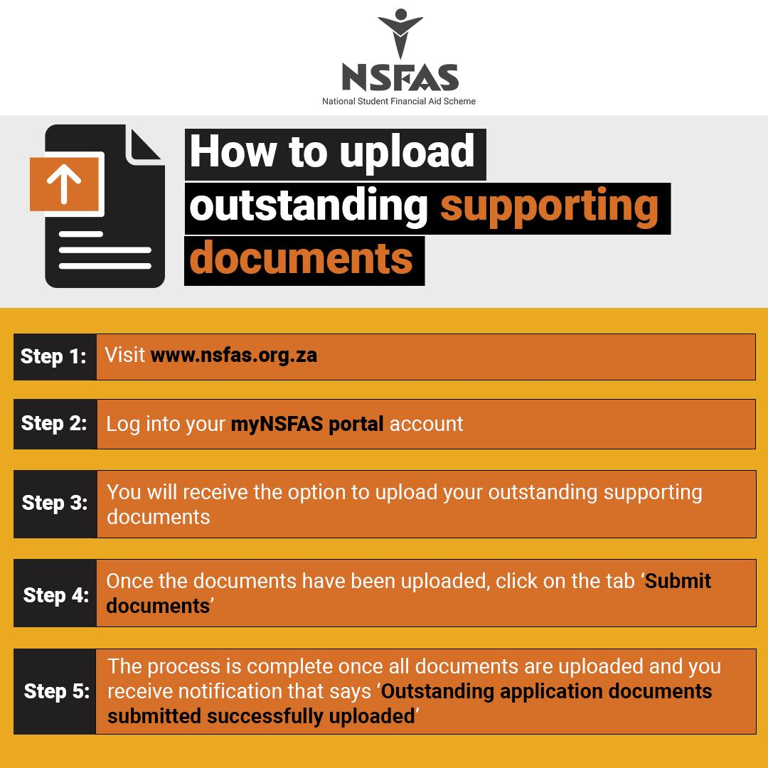 How To Upload Outstanding Supporting Documents